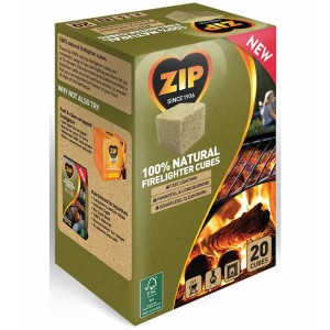 Zip Natural Firelighter Cubes Pack 20