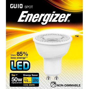 Energizer LED GU10 Cool White 370lm 4000k