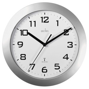 Acctim Peron Radio Controlled Wall Clock - Silver