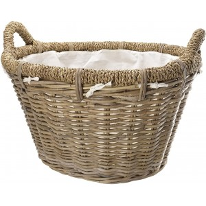 Manor Log Basket Rosewood Rattan