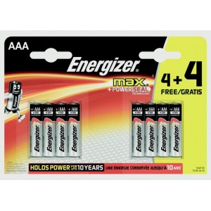 Energizer Max Batteries 4 Plus 4 Free