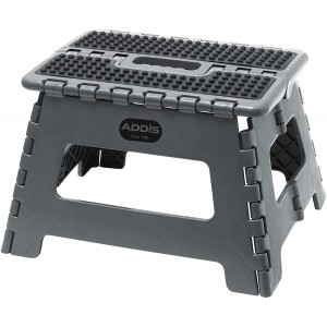 Addis Folding Step Stool Metallic Grey