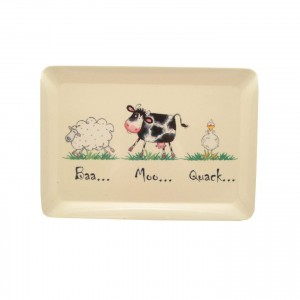 Price & Kensington Home Farm Tray - Melamine - Multi Colour - 38.7 x 27.5cm