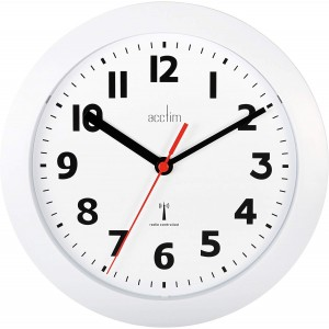 Acctim Parona Radio Controlled Wall Clock - White