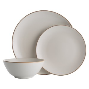 Mason Cash Classic Collection 12 Piece Fine Stoneware Cream Dinner Set