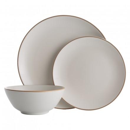 Mason Cash Classic Collection 12 Piece Fine Stoneware Cream Dinner Set