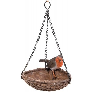 Vivid Arts Hanging Robin Heart Feeder