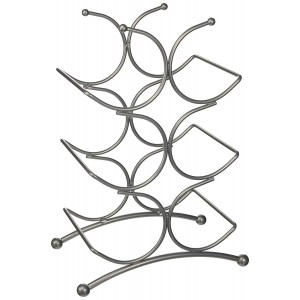 6 Bottle Wine Rack Chrome