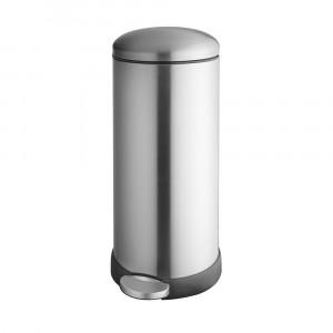 Addis Retro Cushion Close Bin - Silver/Stainless Steel 30 Litre