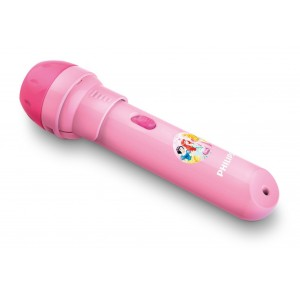 Philips Princess 4.5V Projector Torch & Night Light - 0.1W - Pink
