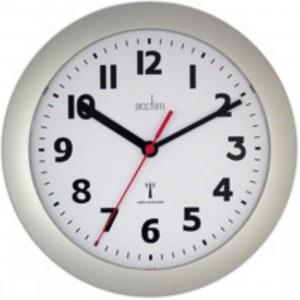 Acctim Parona Wall Clock - Plastic - Silver
