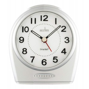 Acctim Astoria Smartlite Non-Ticking Alarm Clock - Silver