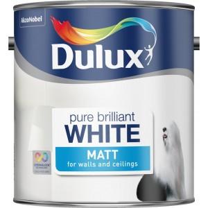 Dulux Matt Emulsion 2.5 Litre Pure Brilliant White 2.5 Litre