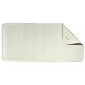 Croydex Rubber Bath Mat Slip Resistant White 74 x 34cm