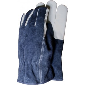 Town & Country Premium Leather & Suede Gloves Large