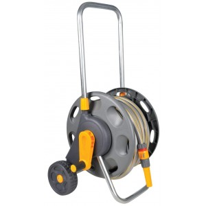 Hozelock Hose Trolley 60m Drum with 25m Hose and Basic Equipment