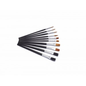Harris Seriously Good Flat Artist Paint Brushes Pack 10