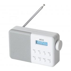Akai Portable DAB Radio White