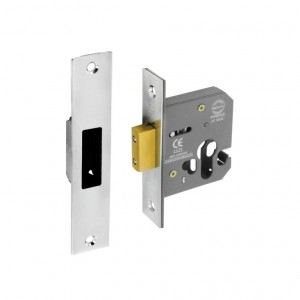 Securit Euro Dead Lock Nickel Plated 63mm