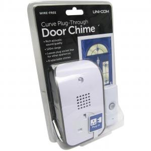 Unicom Curve Plug Through Door Chime 120 Metre