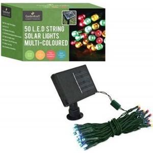 GardenKraft 50 LED Multi-Coloured Solar String Lights