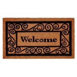 Groundsman Welcome Grey Coco Doormat 40 x 70cm