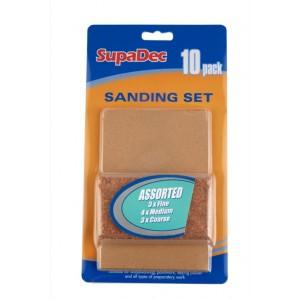 SupaDec Sanding Block & 10 Sanding Sheets