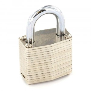 Securit Laminated Padlock Brass Cylinder 50mm