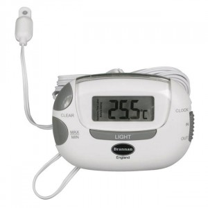 Brannan Indoor Outdoor Thermometer with Clock