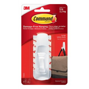 3M Command Large Hook with Strips White