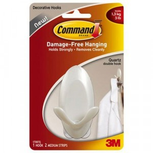 3M Command White Double Hook