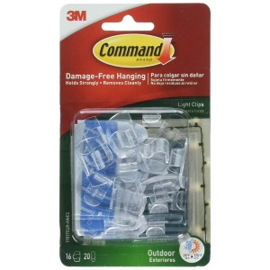 3M Command Outdoor Light Clips 16pk