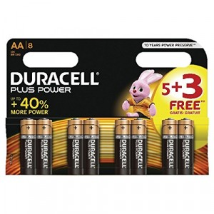 Duracell Plus Power Batteries 5 + 3 Free