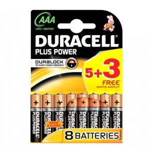 Duracell Plus Power AAA 8 Batteries
