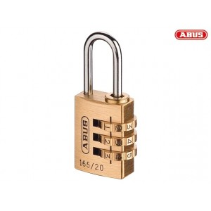 Abus 165 Series Solid Brass Body Combination Padlock