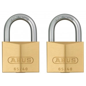 Abus 65 Series Brass Padlock Twin Pack