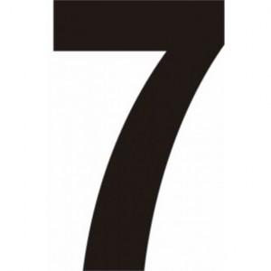 Centurion Self Adhesive Black Vinyl Numbers