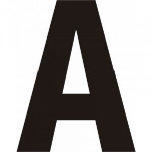 Centurion Self Adhesive Vinyl Letters Black 75mm