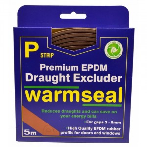 Exitex P-Profile Long Life Foam Draught Excluder 5 Metre