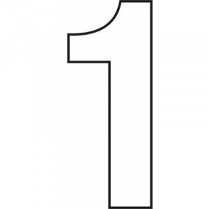 Centurion Self Adhesive White Vinyl Numbers