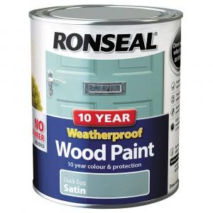 Ronseal 10 Year Weatherproof 2-in-1 Wood Paint 750ml