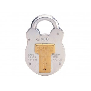 Squire 4-Lever Old English Steel Case Padlock