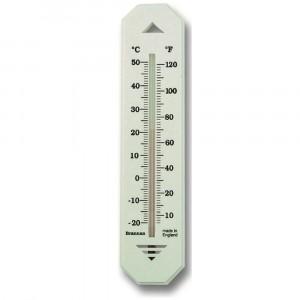 Brannan Wall Thermometer - White