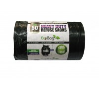 Ecobag Heavy Duty Refuse Sacks Black 100 Litre