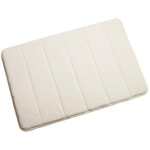 Croydex Memory Foam Textile Bathroom Mat Cream