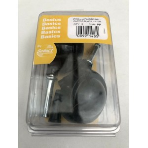 Select 50mm Ball Castors Pack of 2