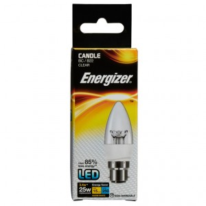Energizer LED Energy Saving Candle Bulb Clear