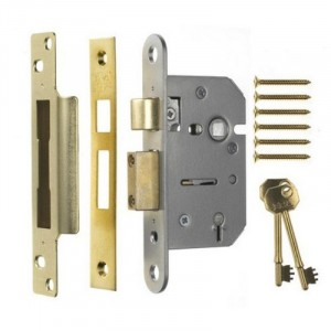 Era 5-Lever Viscount Mortice Sash Lock PB