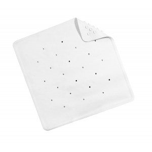 Croydex Rubber Shower Mat Anti Bacterial White