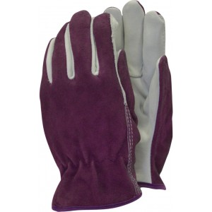 Town & Country Premium Leather Gloves Ladies Plum